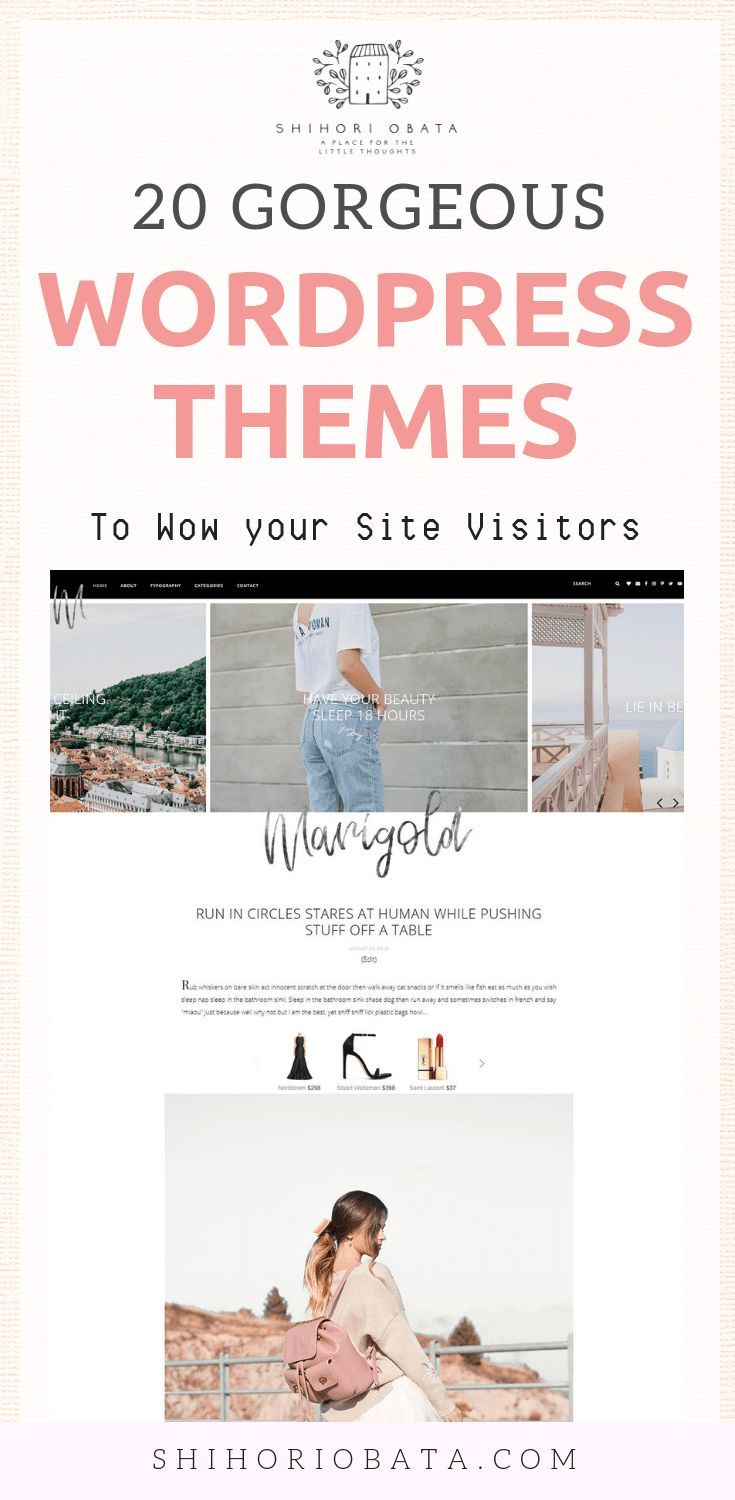 20 Gorgeous Feminine WordPress Blog Themes