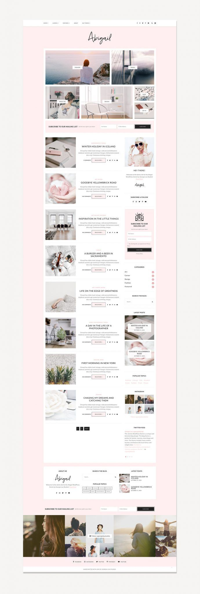 Abigail WordPress Theme