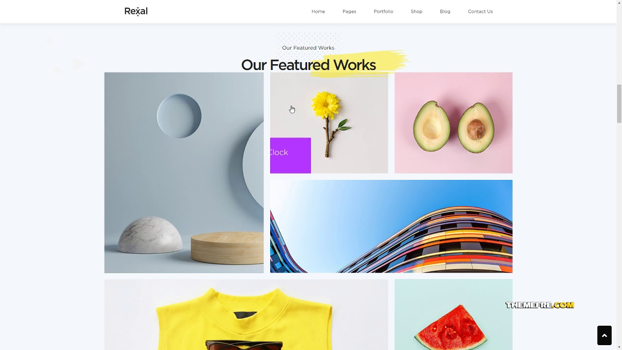 Rexal – A Colorful and Modern Multipurpose Portfolio WordPress Theme