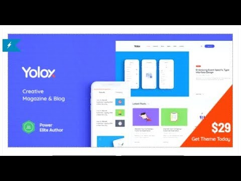 Yolox | Modern WordPress Blog Theme for Business & Startup | Themeforest Templates