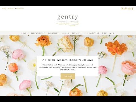 An Overview of The Gentry Feminine WordPress Theme by Angie Makes