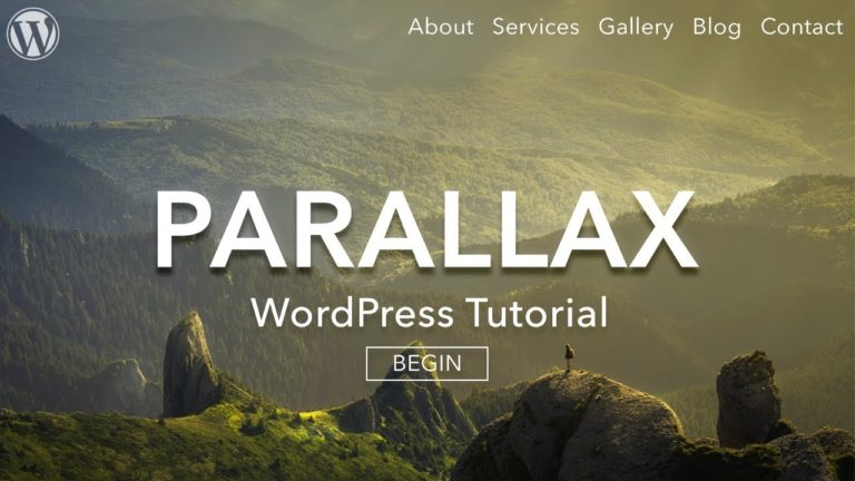 How to Make a Parallax WordPress Website – full video tutorial