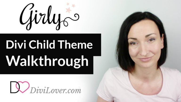 Girly – Feminine Divi Child Theme Walkthrough