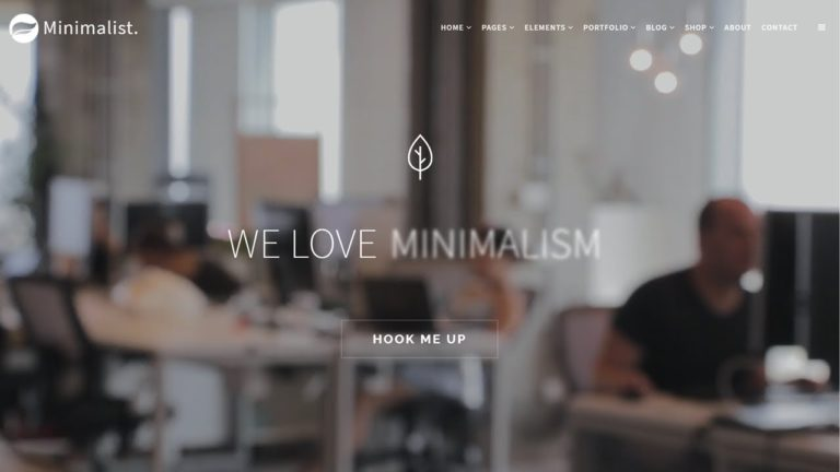 Minimalist WordPress Theme – Clean & Modern Responsive Site Builder
