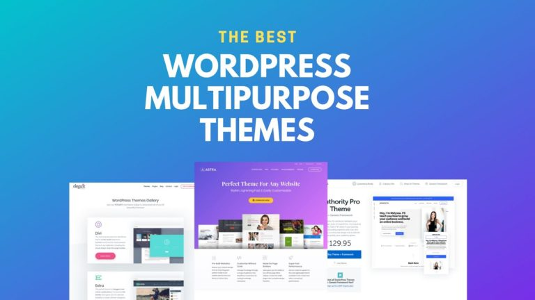 Top 10 Multipurpose WordPress Themes with Page Builder 2019
