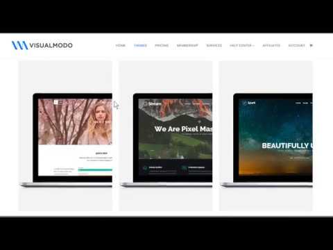 Visualmodo WordPress Themes Showcase – Portfolio of Templates and Sites Builder Tools