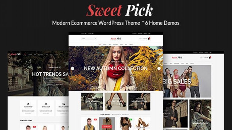 Sweet Pick | Modern E-commerce WordPress Theme | Themeforest Website Templates and Themes
