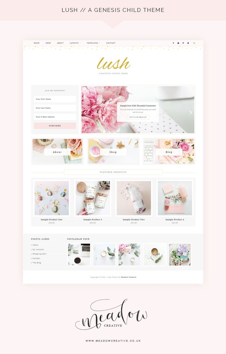 Lush / An Ecommerce Genesis Child Theme from Meadow Creative · WordPress Themes…
