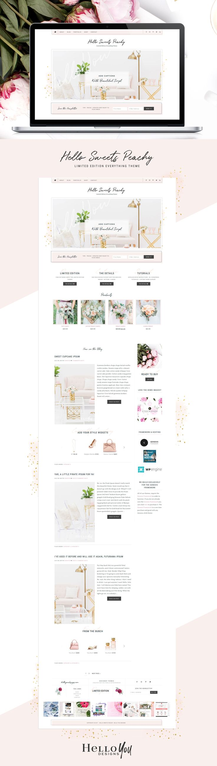 Sweets Peachy WordPress Theme