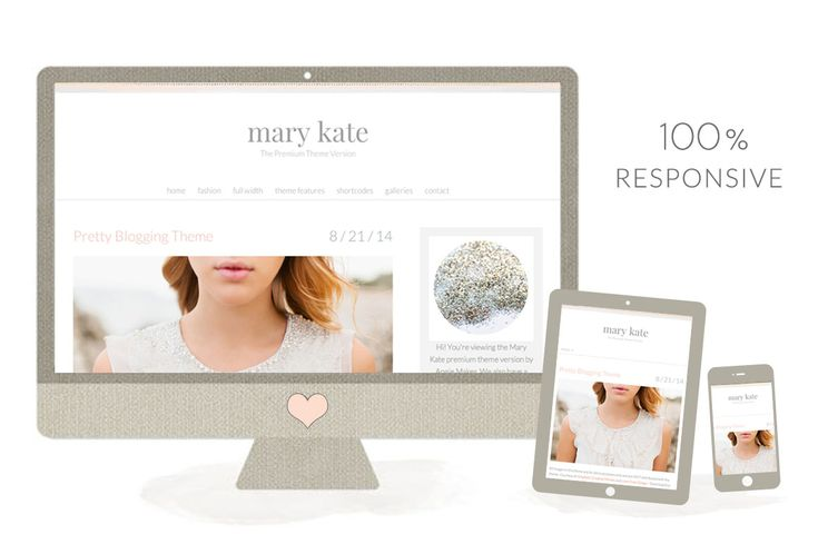 The Mary Kate WordPress Theme for Women