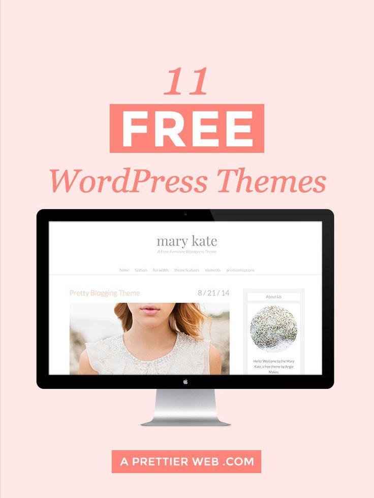 11 Free Feminine WordPress Themes
