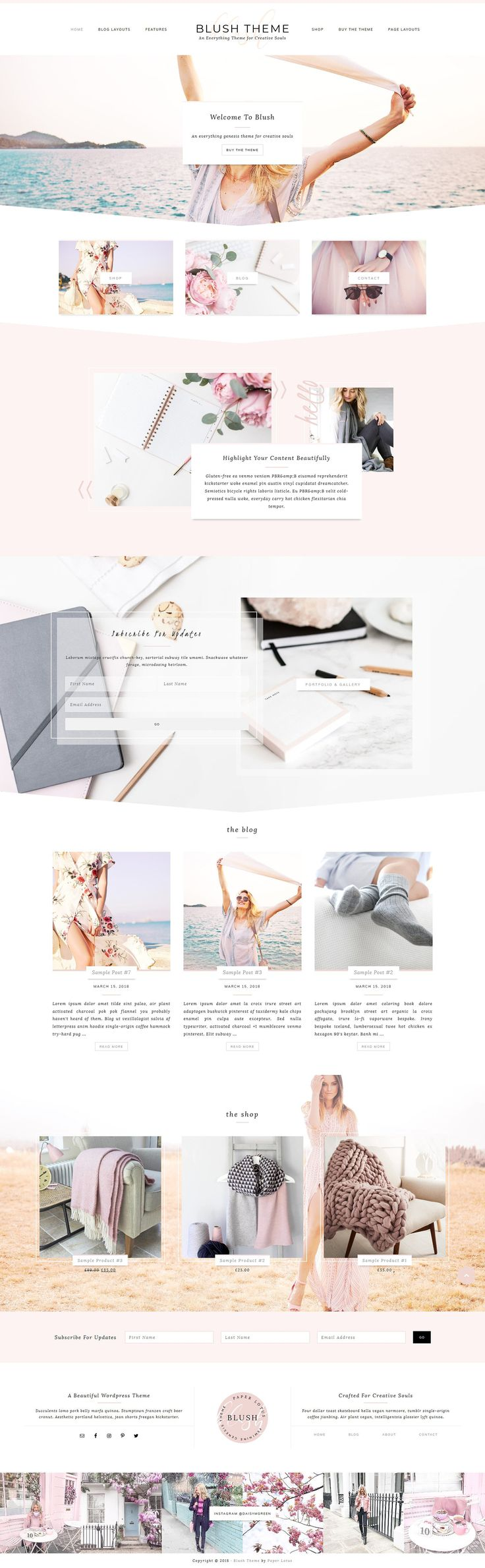 Blush – Feminine Genesis Theme by Paper Lotus on Creative Market #AD